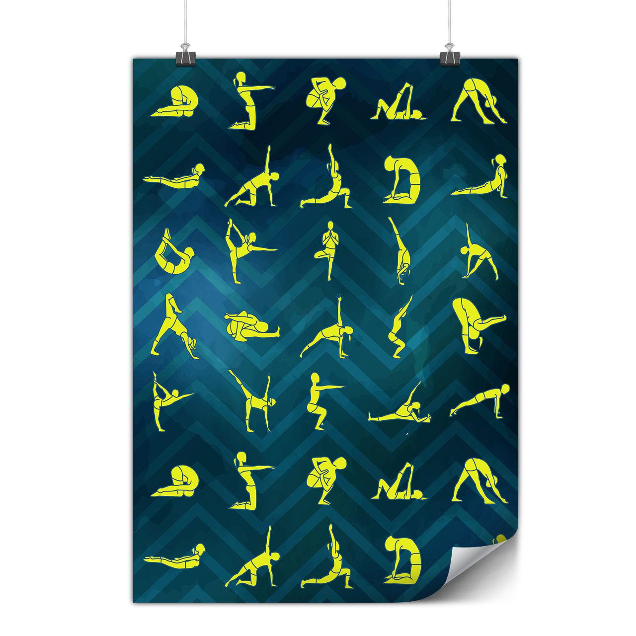 Yoga Posture Manual Matte//Glossy PosterWellcoda