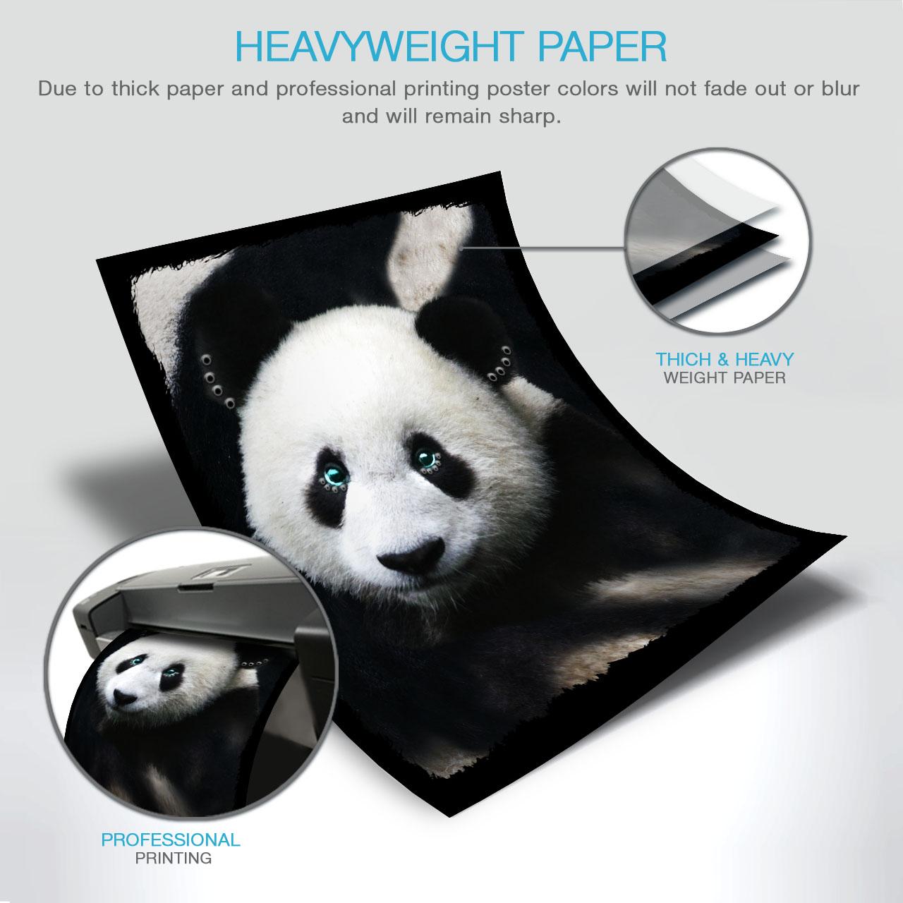 Adorable Panda Time Matte//Glossy PosterWellcoda